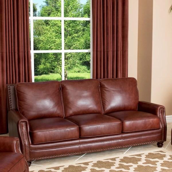 Abbyson Living Bel Air Leather Sofa &