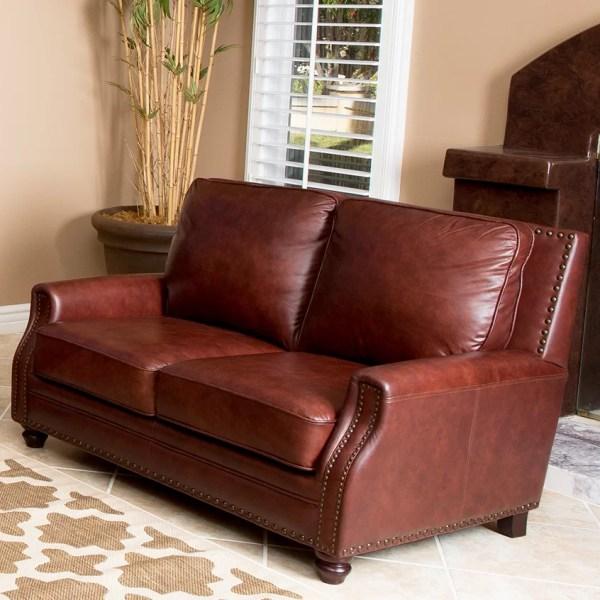 Abbyson Living Bel Air Leather Loveseat &