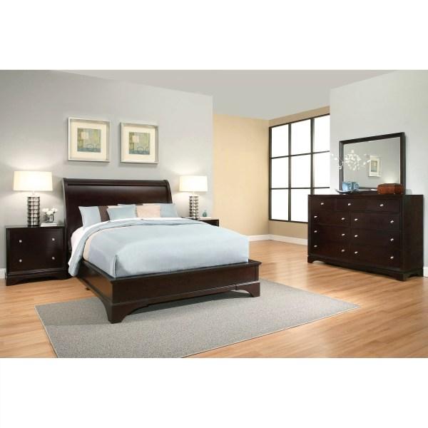 Latitude Run Juliana Sleigh 5 Piece Bedroom Set