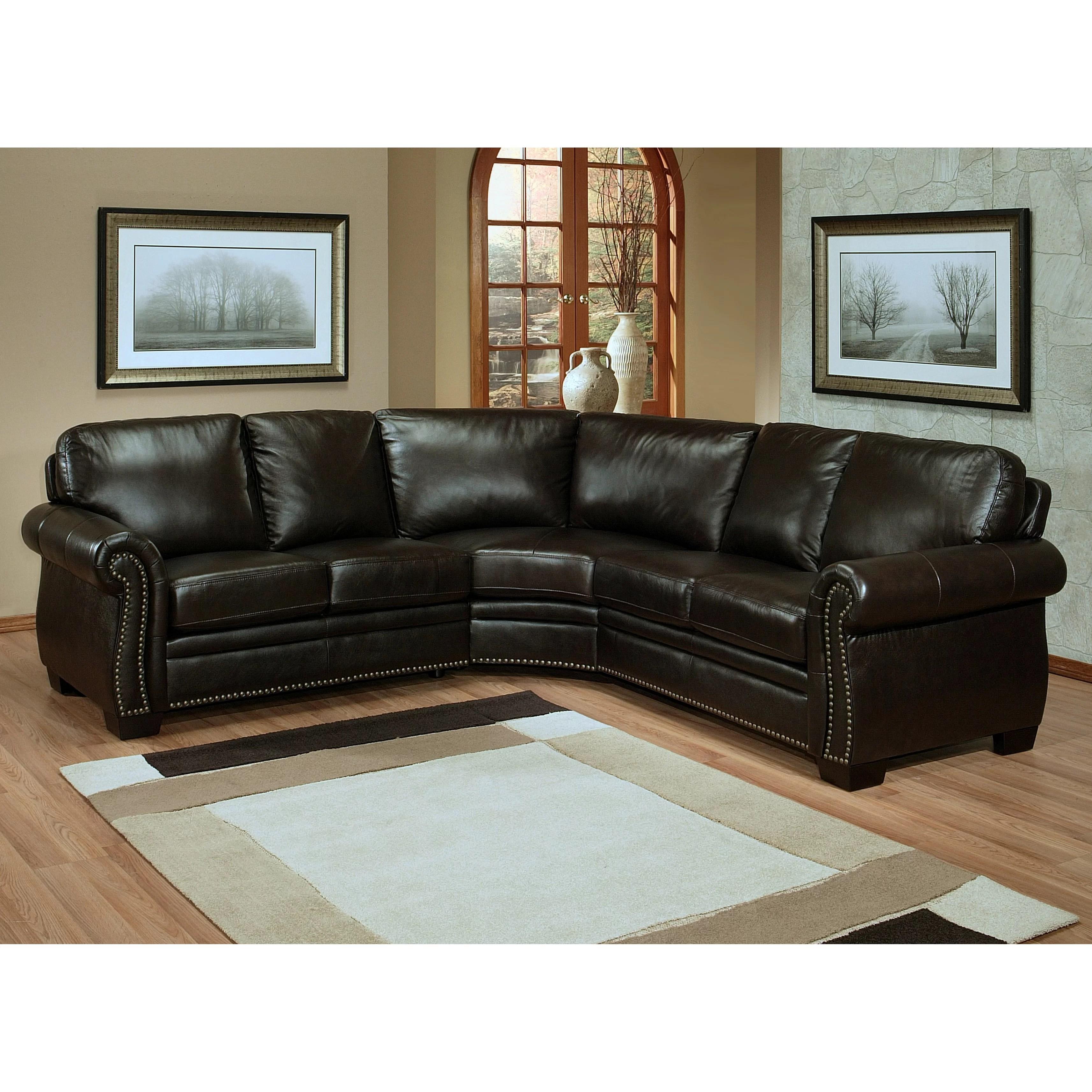 abbyson living berkshire italian leather sectional sofa pillows for dark empire and reviews wayfair