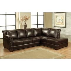 Abbyson Living Berkshire Italian Leather Sectional Sofa La Z Boy Motion Ellis And Reviews