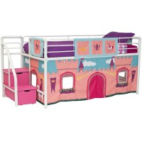 DHP Princess Castle Curtain Set for Junior Loft Bed ...