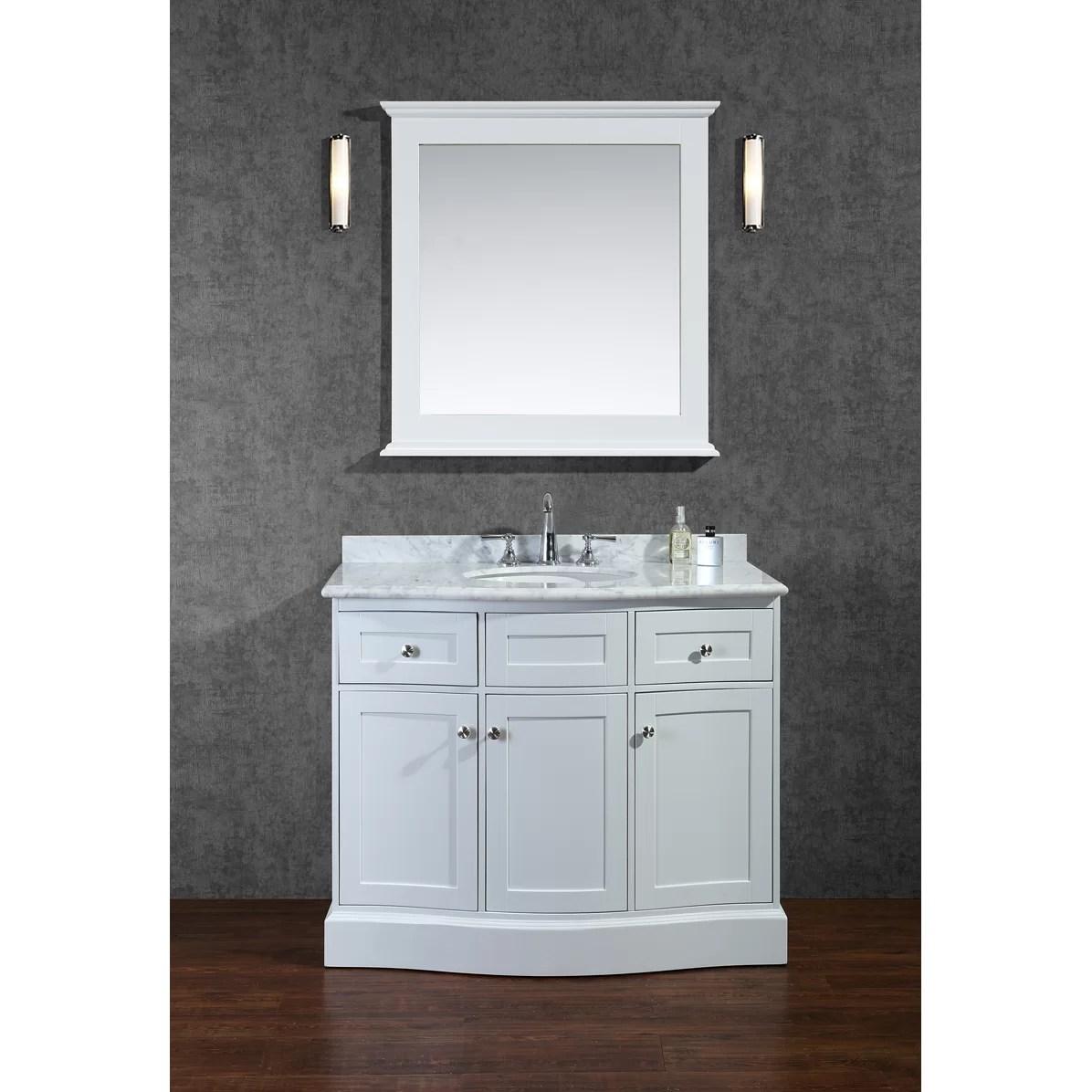 Ariel Bath Montauk 42 Single Bathroom Vanity Set with Mirror  Reviews  Wayfair