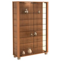 VCM Lumo Wall Mounted Curio Cabinet & Reviews