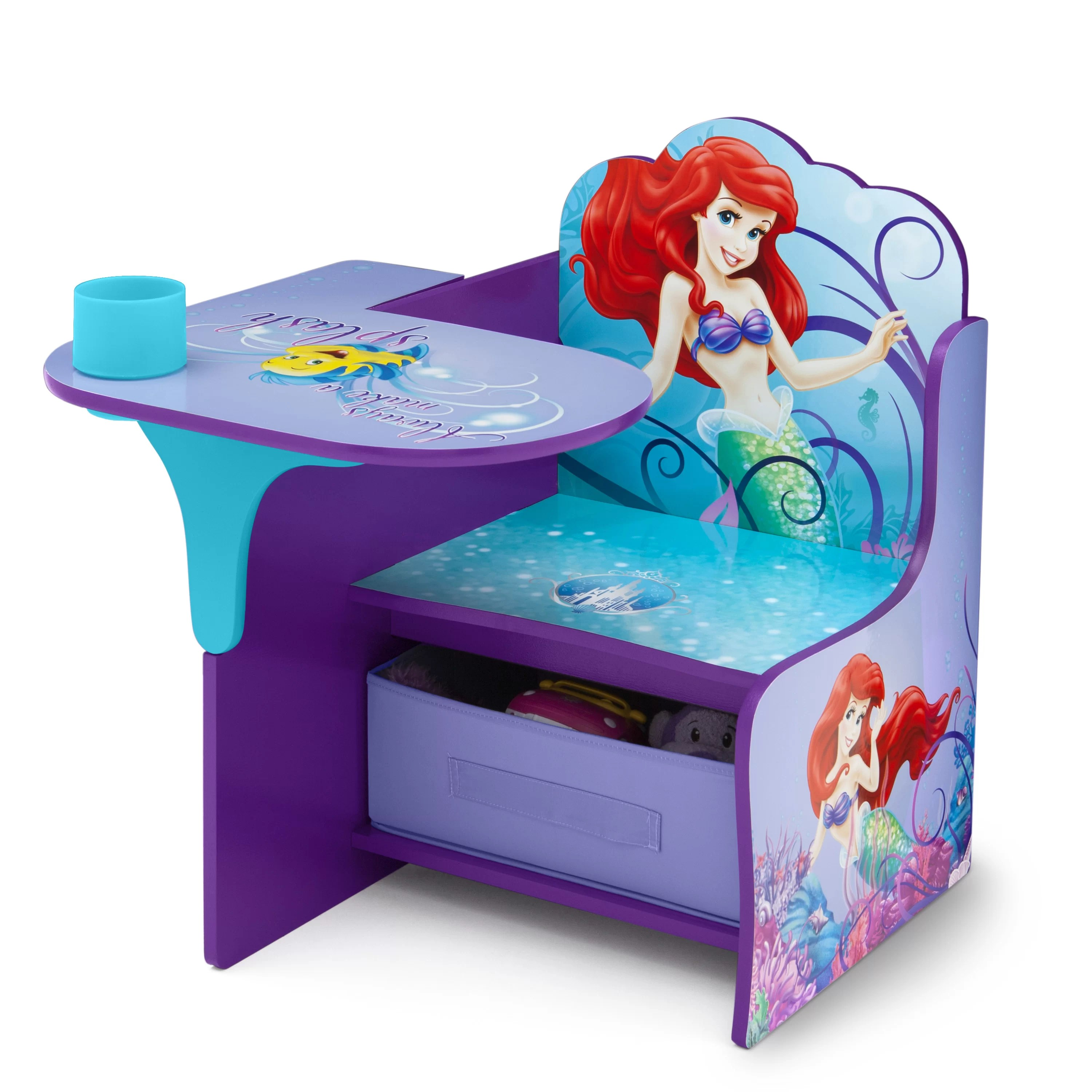 Childrens Desk And Chair Delta Children Little Mermaid Kids Desk Chair With Storage