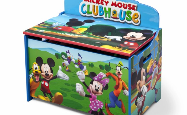 Delta Children Deluxe Mickey Mouse Toy Box Reviews Wayfair