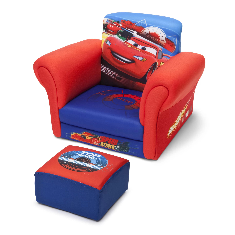 kids chair and ottoman fluffy desk delta children cars club reviews