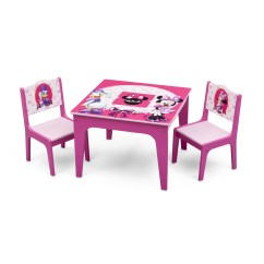 3 Piece Table And Chair Set Wrought Iron Chairs Delta Children Minnie Mouse Kids