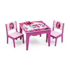 3 Piece Table And Chair Set Folding High Uk Delta Children Minnie Mouse Kids