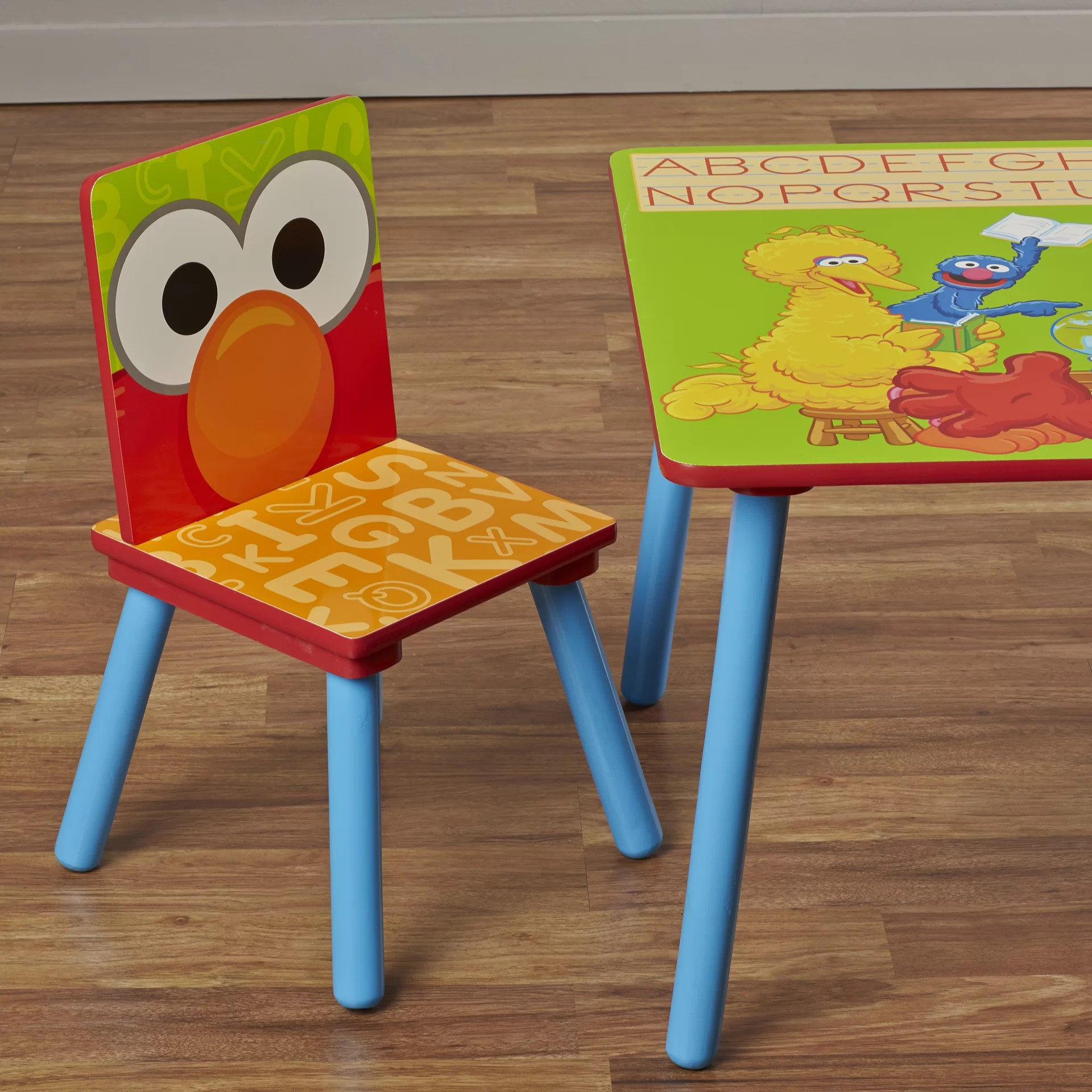 safety 1st 5 piece childrens table and chair set folding cover rentals delta children sesame street kids 39 3