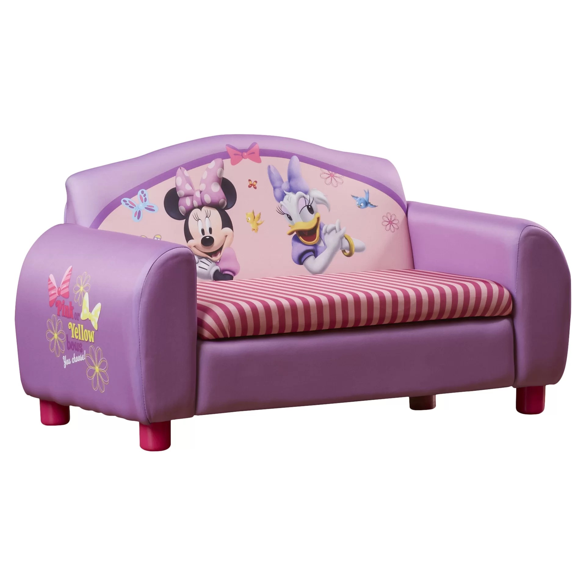 delta storage sofa bed indonesian sets children disney minnie mouse kids with