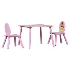 Disney Table And Chair Set Steel With Arms Delta Children Princess Kids 3 Piece
