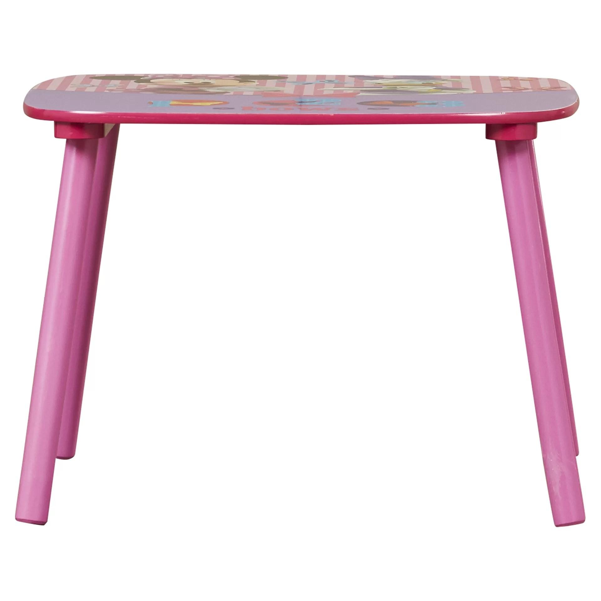minnie table and chair set caravan zero gravity lounge delta children mouse kids 3 piece