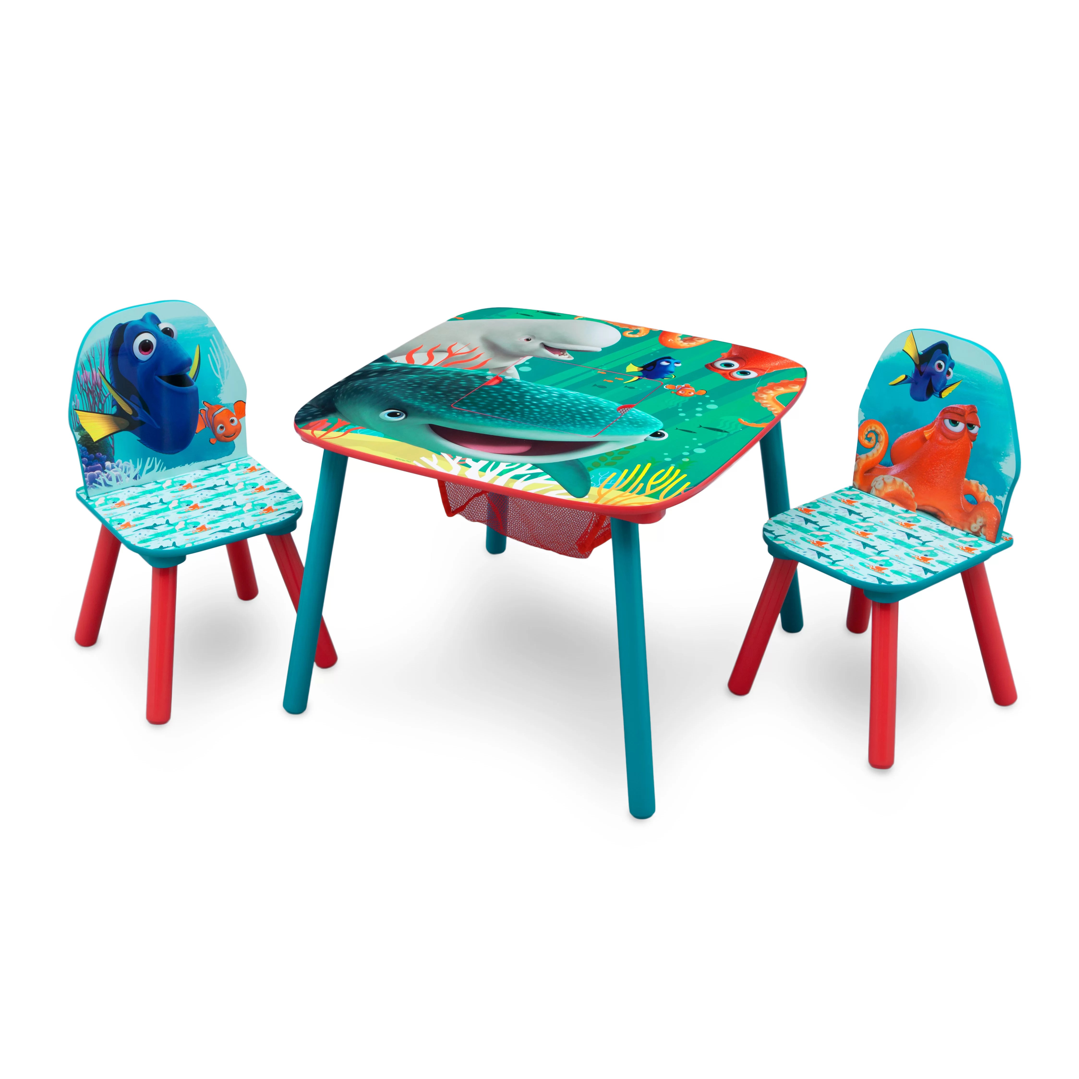 sesame street table and chairs chair covers for valentines day delta children disney pixar finding dory kids 3 piece
