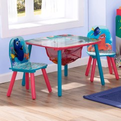 Disney Table And Chair Set Patio Chairs At Target Delta Children Pixar Finding Dory Kids 3 Piece