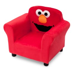 Childrens Upholstered Chair Queen Of Love Delta Children Sesame Street Elmo Kids Club