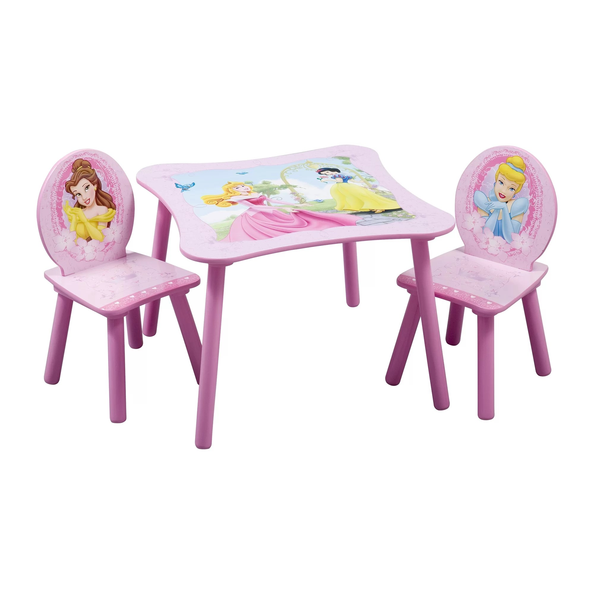 3 piece toddler sofa set crate and barrel microfiber sectional delta children disney princess kids table chair