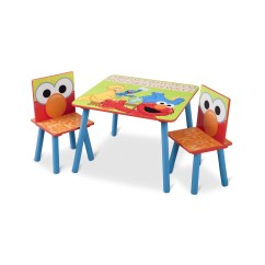Where To Buy Toddler Table And Chairs Office Chair Net Delta Children Sesame Street Kids 39 3 Piece