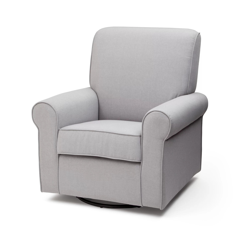 delta avery nursery glider chair grey lightweight folding for travel children swivel and reviews wayfair
