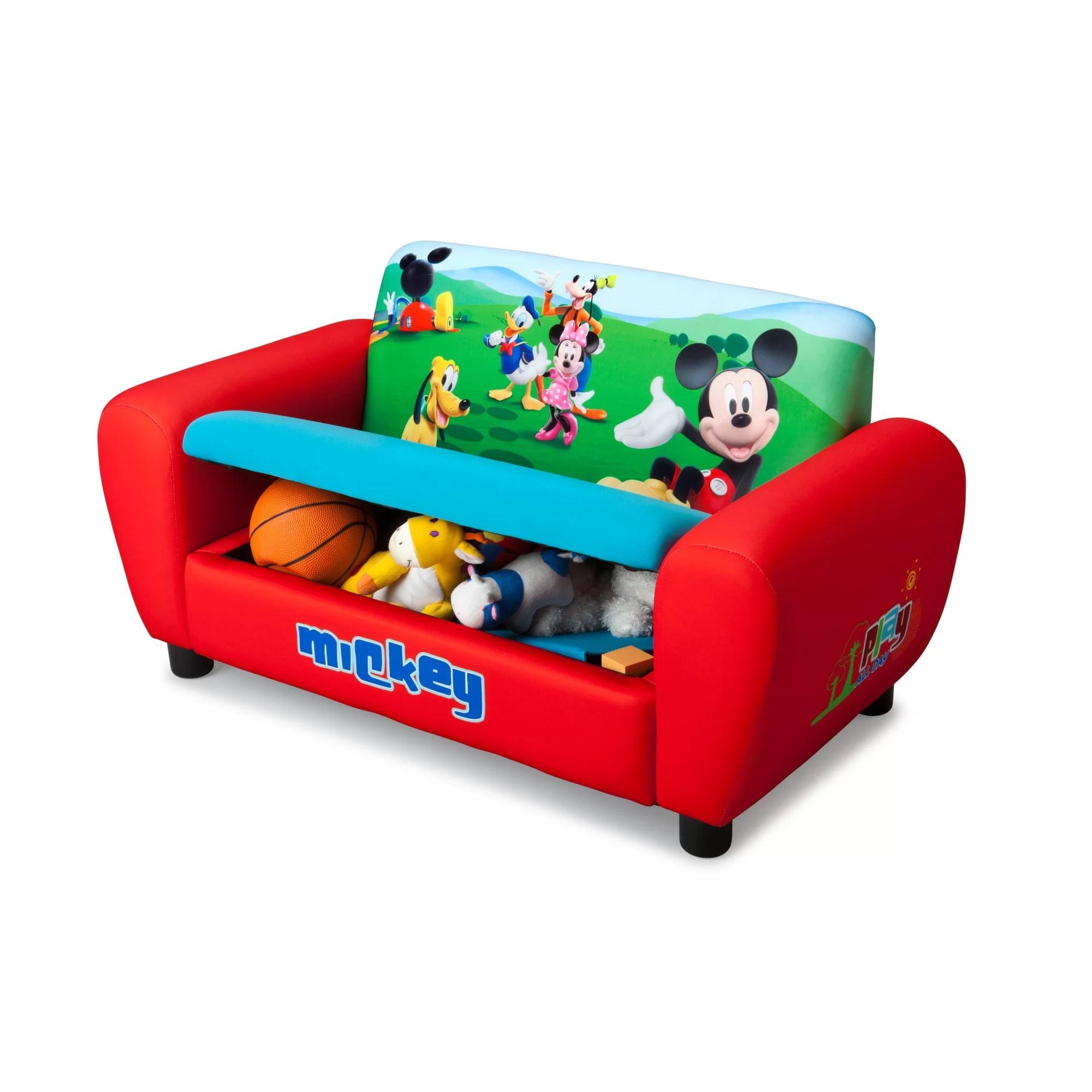 mickey mouse sofa for garden delta children disney kids wayfair