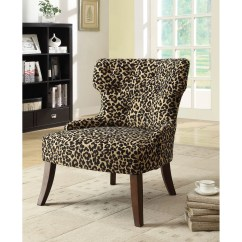 Fabric Side Chairs Folding Chair Dining Acme Furniture Claribel Leopard Wayfair