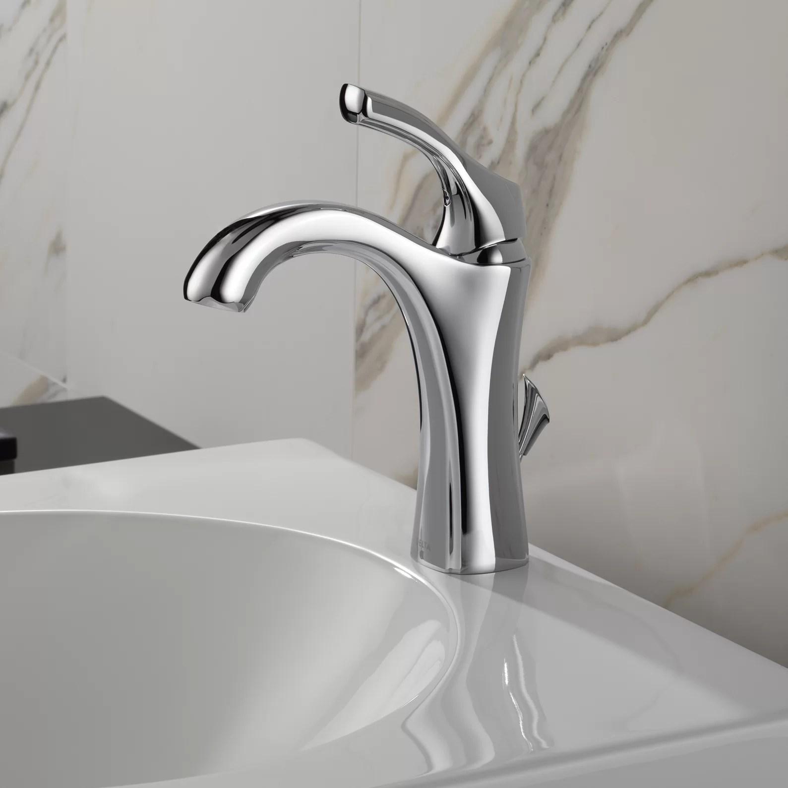 Delta Addison Single Hole Bathroom Faucet with Diamond