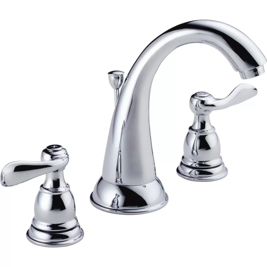 Delta Windemere Widespread Bathroom Faucet with Double Lever Handles  Reviews  Wayfair