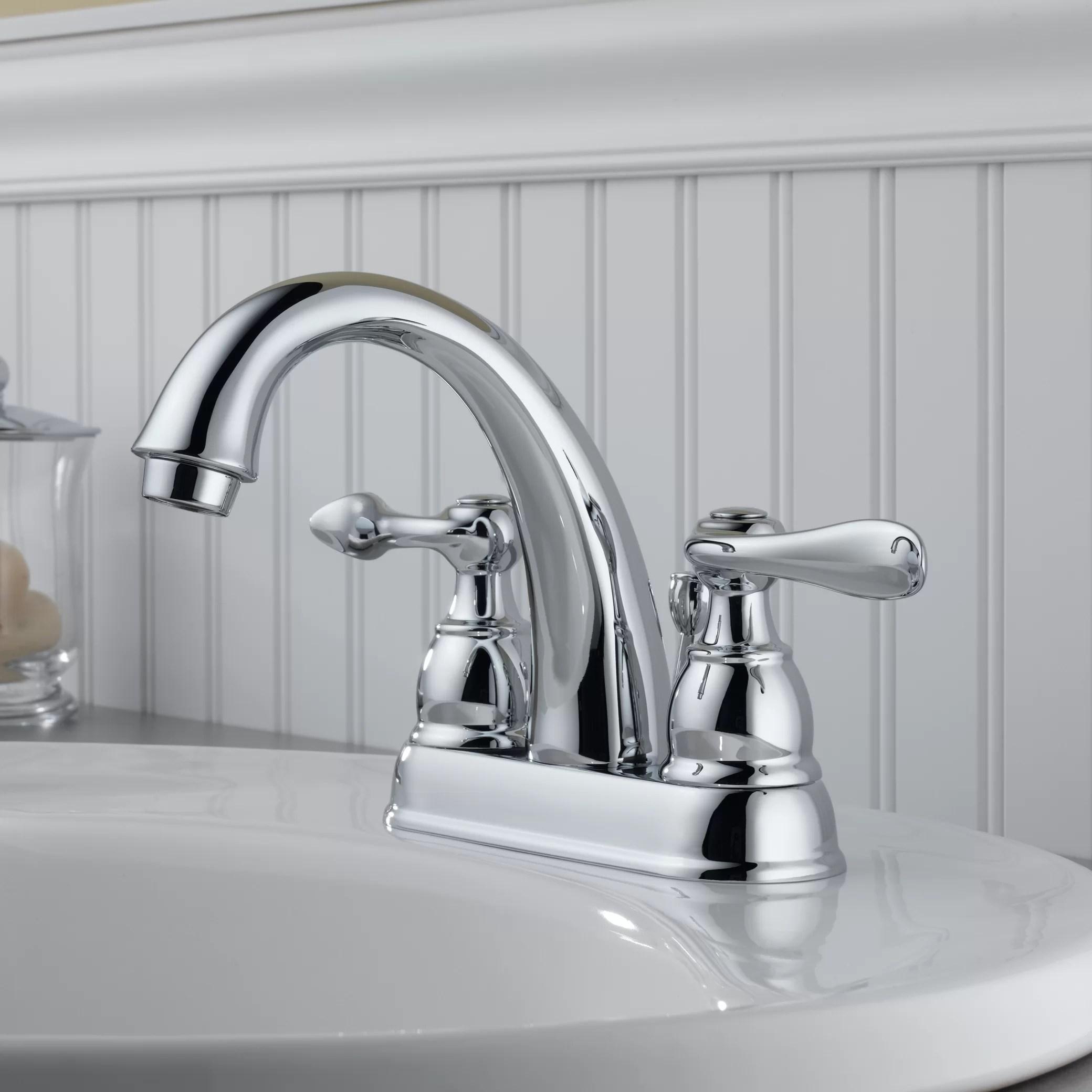 Delta Windemere Centerset Bathroom Faucet with Metal Pop