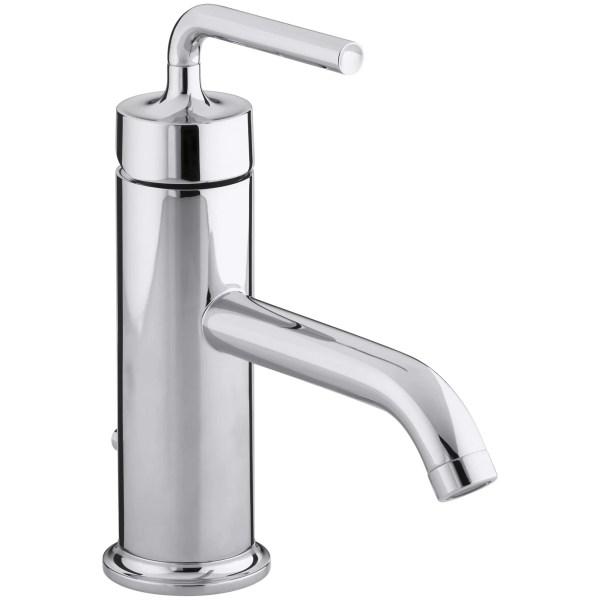 single bathroom sink faucet Kohler Purist Single-Hole Bathroom Sink Faucet with Straight Lever Handle & Reviews | Wayfair