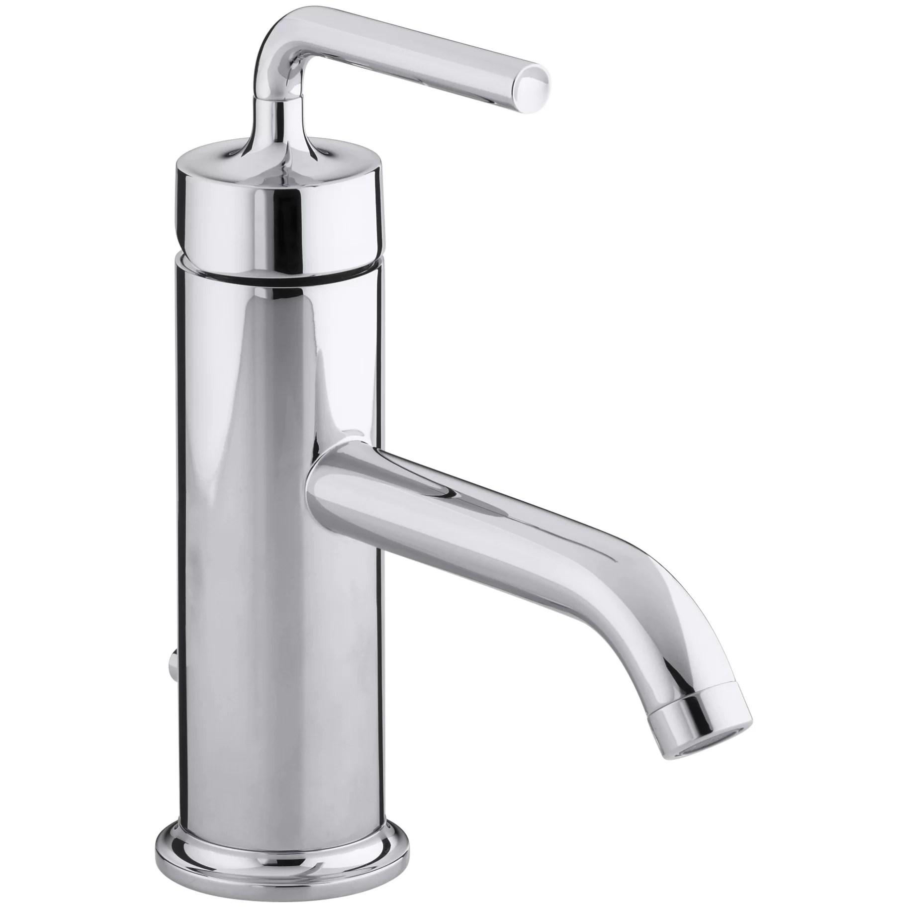 kohler kitchen sink faucets brick tiles for backsplash in purist single hole bathroom faucet with