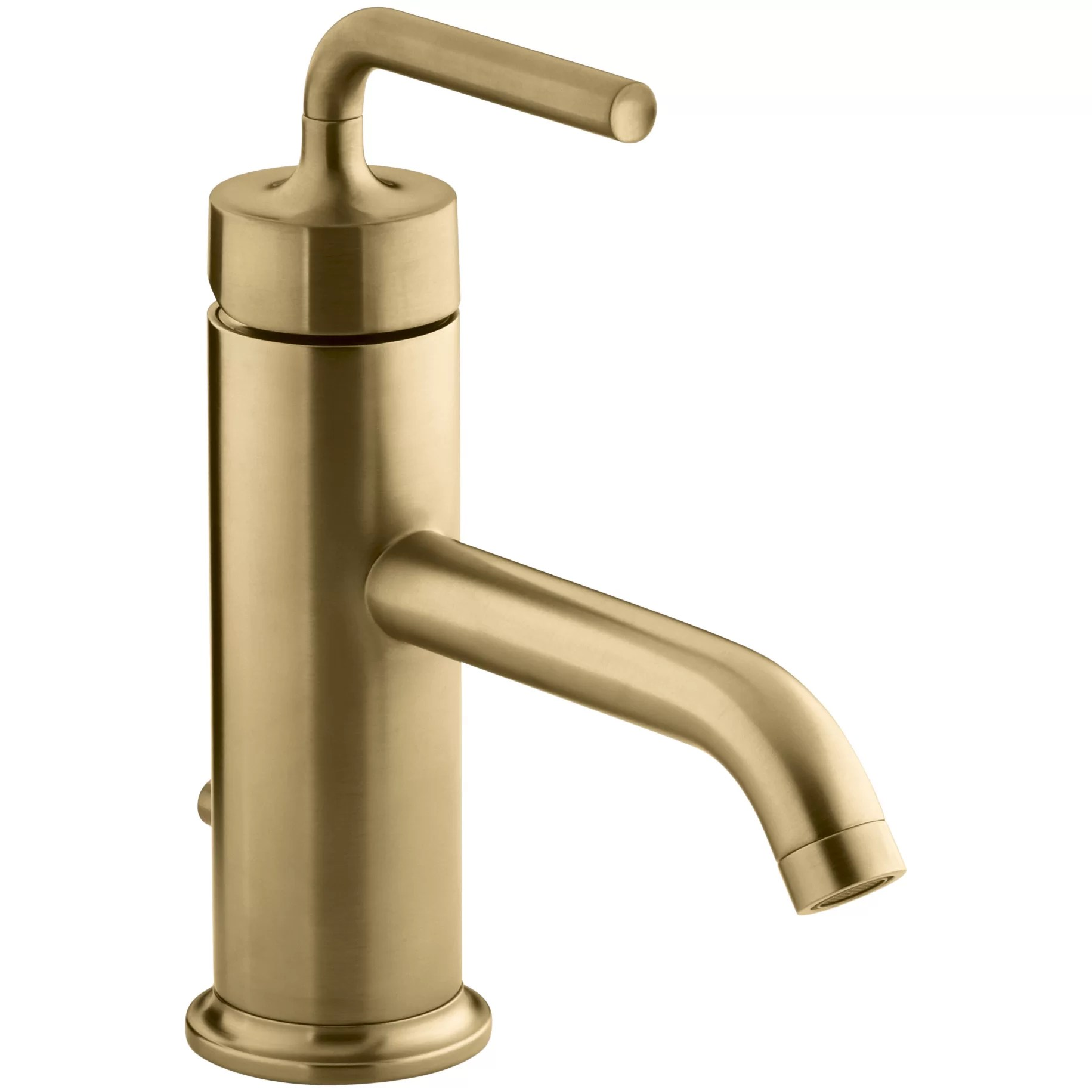 Kohler Purist SingleHole Bathroom Sink Faucet with Straight Lever Handle  Reviews  Wayfair