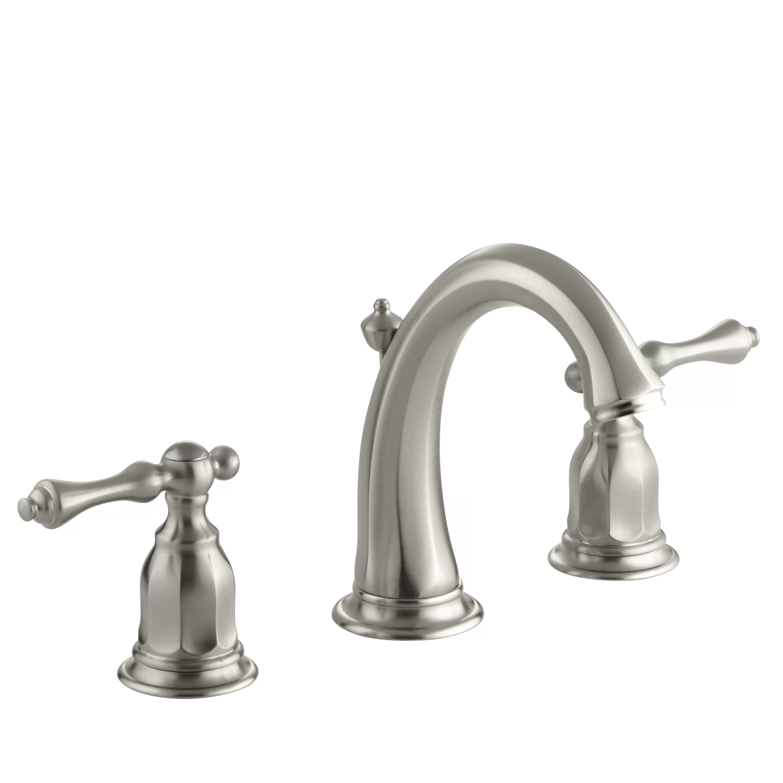 widespread kitchen faucet cabinets manufacturers kohler kelston bathroom sink and reviews