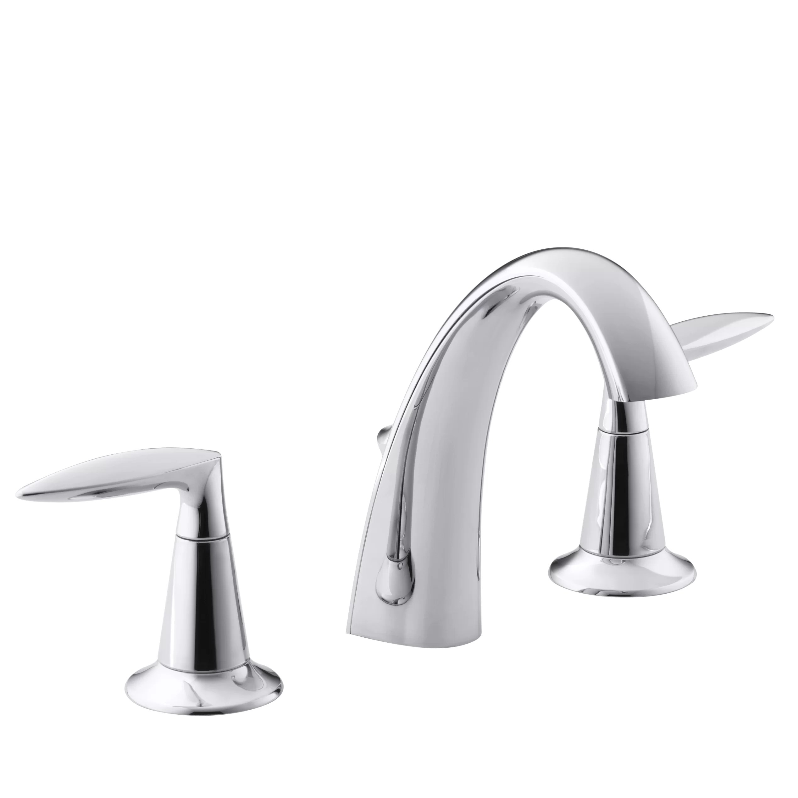 widespread kitchen faucet bar height table sets kohler alteo bathroom sink and reviews