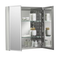 """Kohler 25"""" x 26"""" Aluminum Mirrored Medicine Cabinet"""