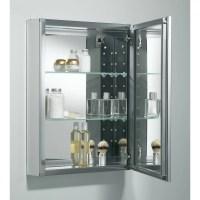 """Kohler 20"""" x 26"""" Aluminum Mirrored Medicine Cabinet"""