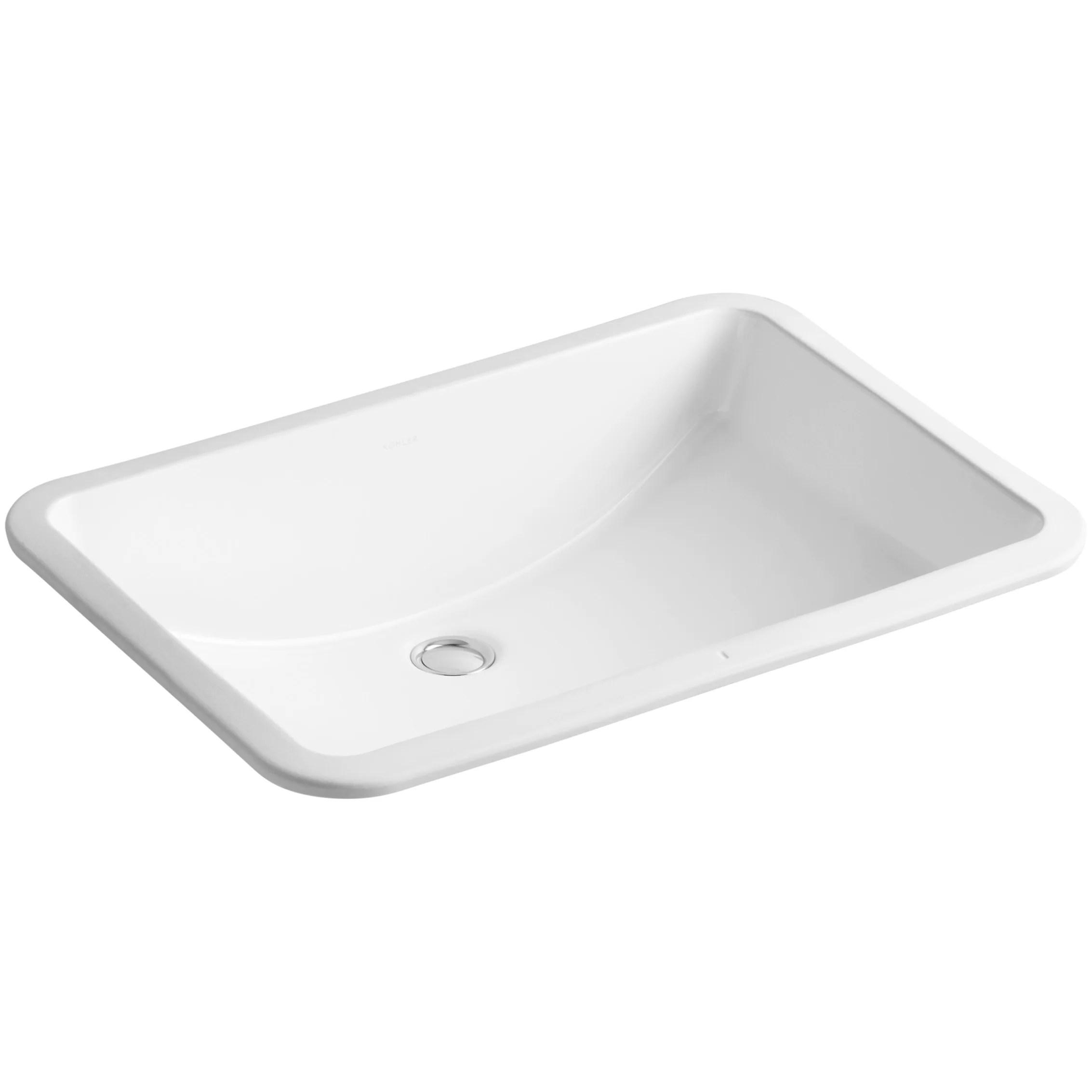Kohler Ladena Undermount Bathroom Sink  Reviews  Wayfair