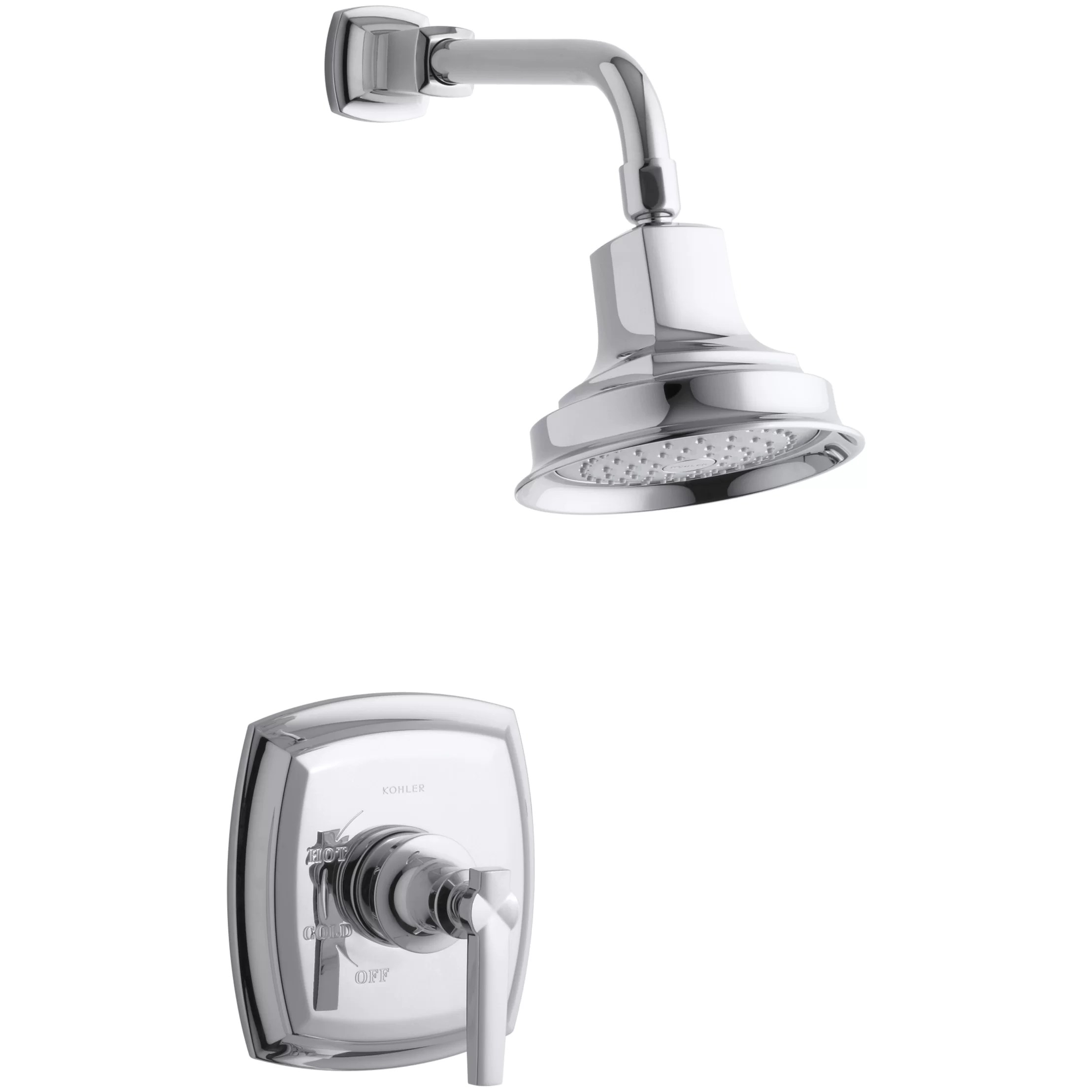 Kohler Margaux RiteTemp PressureBalancing Shower Faucet Trim with Lever Handle Valve Not