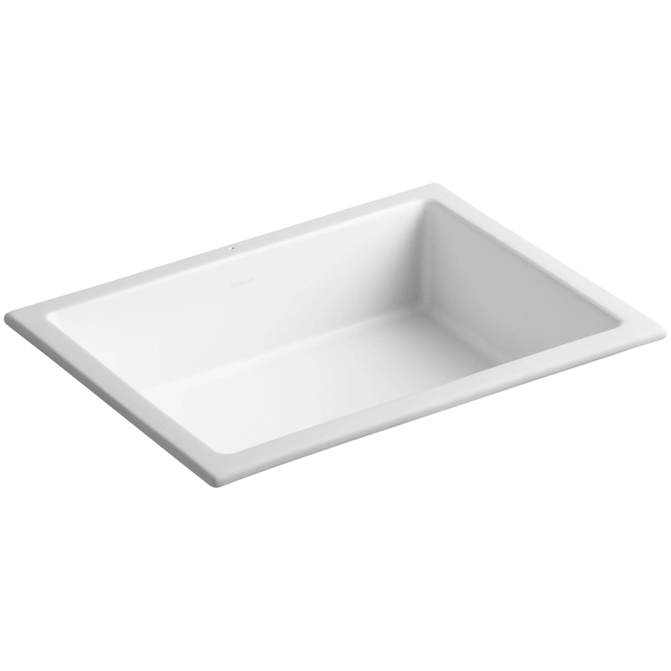 Kohler Verticyl Rectangular Undermount Bathroom Sink with