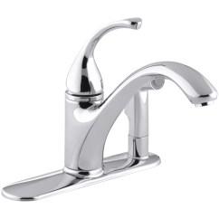 Kohler Kitchen Sink Faucets Small Cart Forté 3 Hole Faucet With 9 1 16 Quot Spout