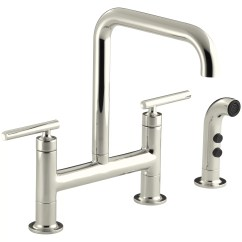 Kohler Kitchen Sink Faucets Nook Lighting Purist Deck Mount Faucet And Reviews