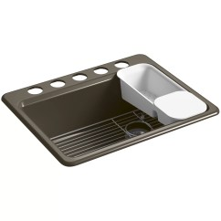 Kohler Kitchen Sink Accessories Lowes Refacing Cabinets Riverby 27 Quot X 22 9 5 8 Under Mount Single Bowl