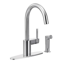 Moen Kitchen Faucet Reviews Remodels With White Cabinets Align Single Handle Deck Mounted