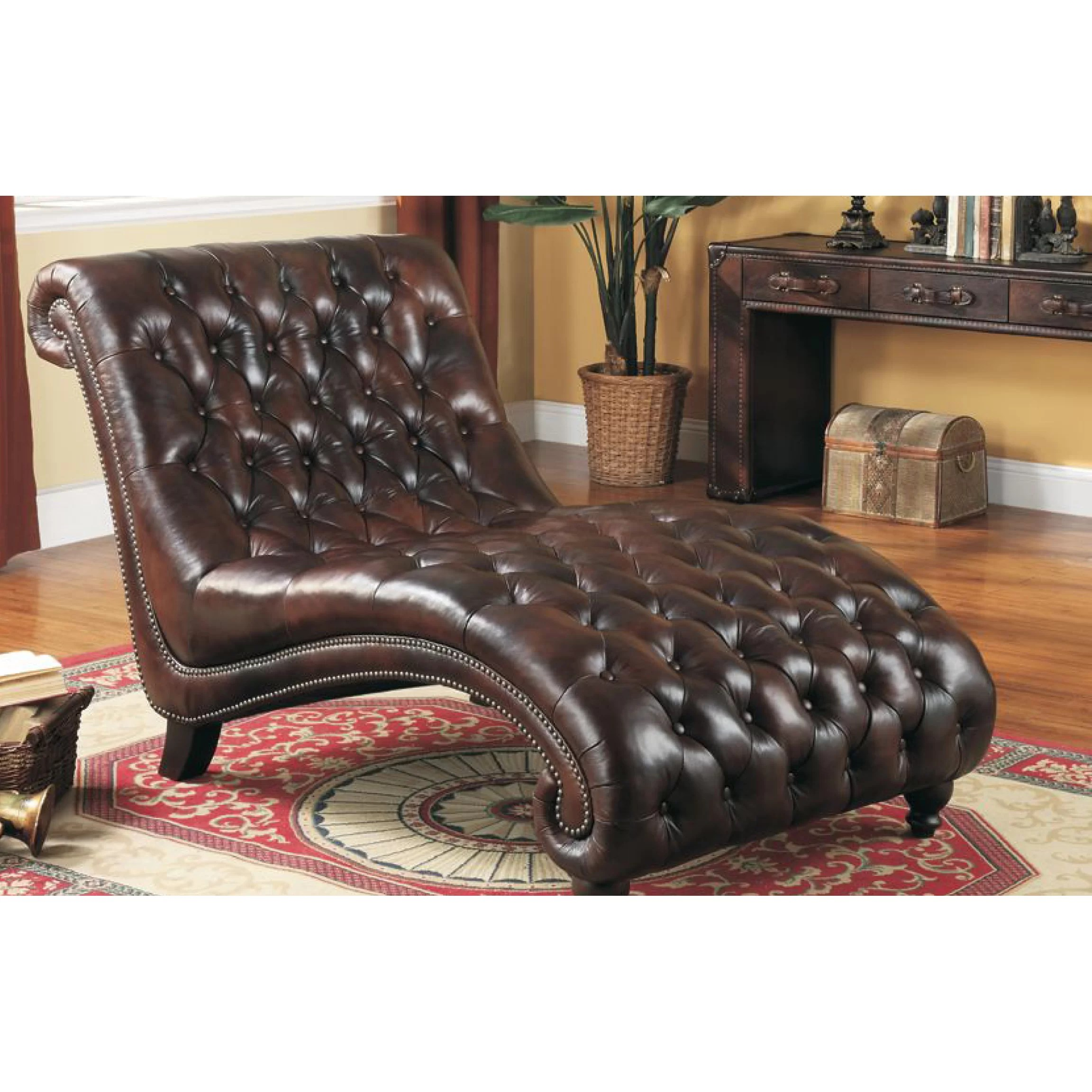 Leather Chaise Lounge Chair Lazzaro Leather Chaise Lounge And Reviews Wayfair