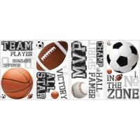 Room Mates Studio Designs All Star Sports Saying Wall