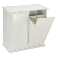 Household Essentials Tilt-Out Laundry Sorter Cabinet with ...