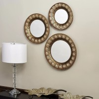 Household Essentials 3 Piece Sunburst Mirror Set | Wayfair
