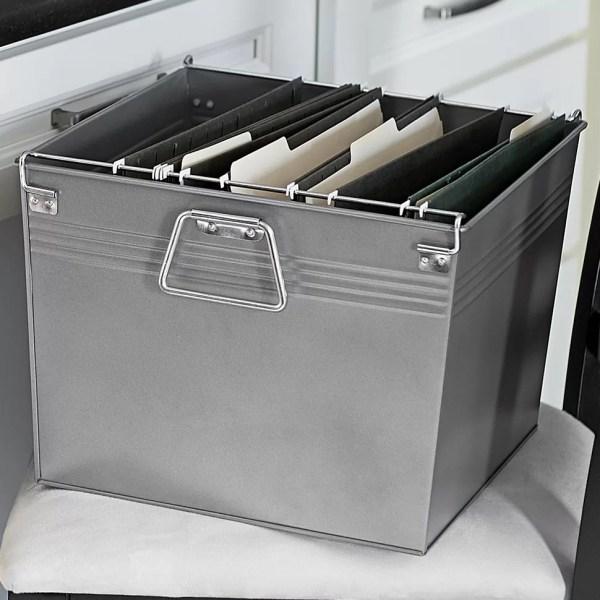 Household Essentials Metal File Box &