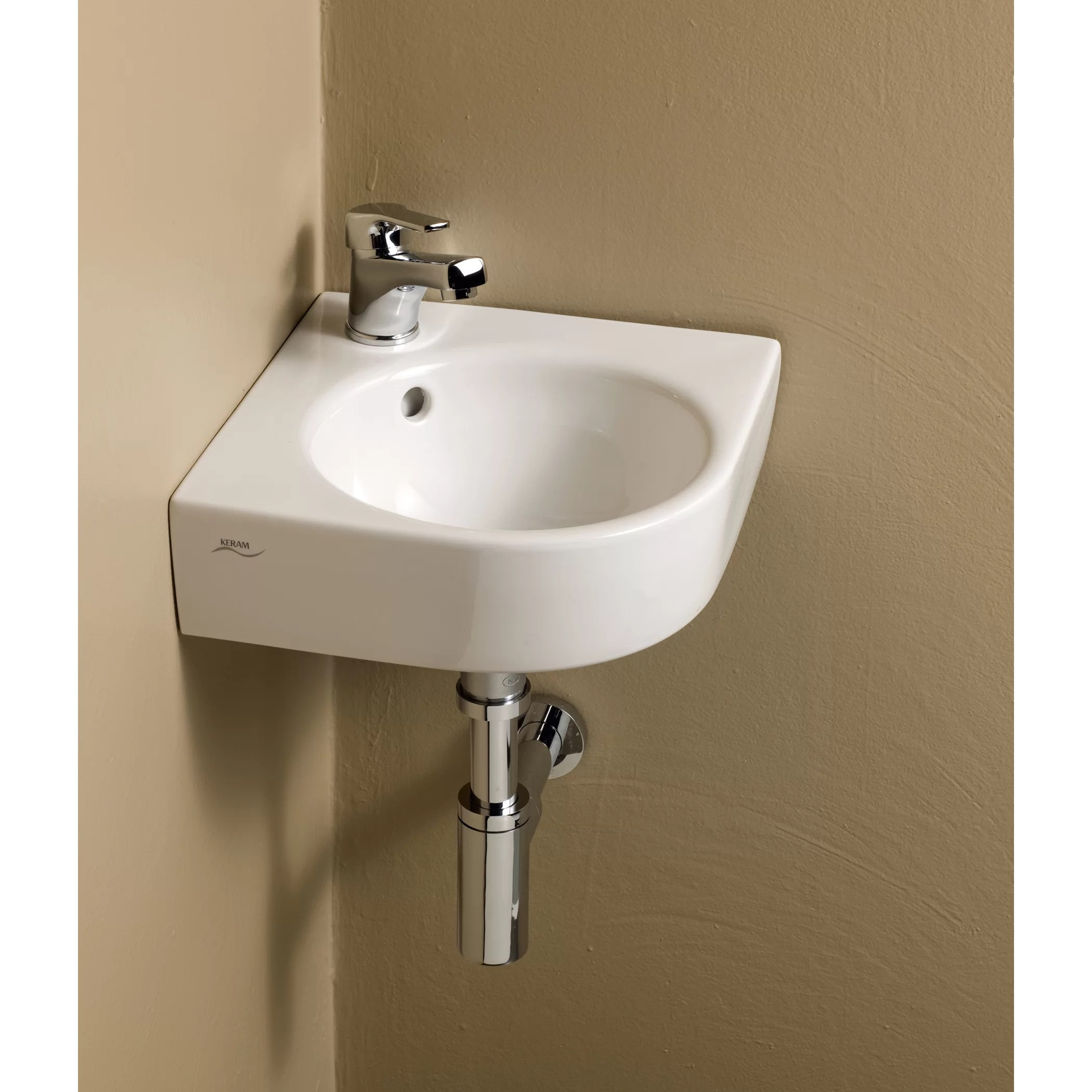 Bissonnet Elements Comprimo Corner Bathroom Sink  Wayfair