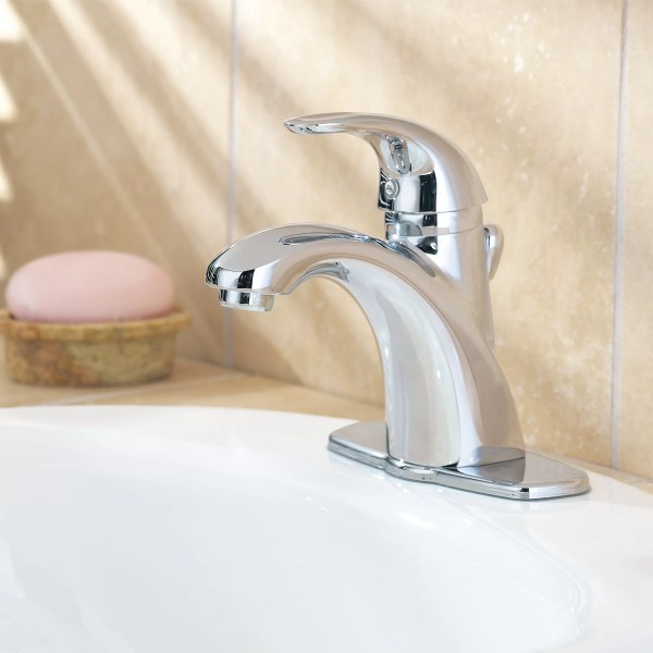 Pfister Parisa Single Handle Hole Standard Bathroom Faucet With Flex-line Supply Lines