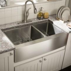 Farmhouse Undermount Kitchen Sink Pendant Lighting Over Island Schon 36 Quot X 21 25 Double Bowl